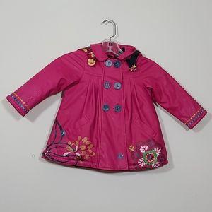 Catimini Toddler Girl Rain Hooded Jacket Size 2.5Y